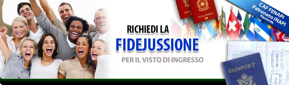 Fidejussione (Fideiussione) per Invito Stranieri, Valida ...